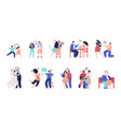 family stages happy children young people vector image vector image