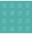 Files and documents thin lines icons set vector image vector image