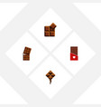 flat icon chocolate set of chocolate delicious vector image vector image