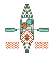 floating market linecolor vector image vector image