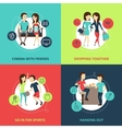 Friends Concept Icons Set vector image vector image