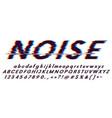 glitch font oblique on a white background digital vector image vector image
