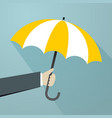 hand with yellow umbrellas create shading vector image