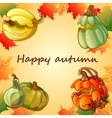 Happy autumn background vector image vector image
