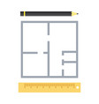 house plan icon apartment project vector image vector image