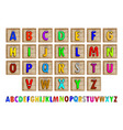 Letter Blocks vector image vector image