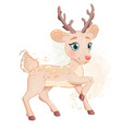 little deer fawn vector image