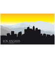 los angeles california skyline with mountains vector image