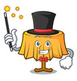 magician table cloth mascot cartoon vector image
