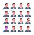 male smiling emotion icons set isolated avatar man vector image vector image