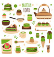 matcha products japanese matcha powder vector image
