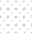 melody icons pattern seamless white background vector image vector image