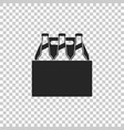 pack of beer bottles icon isolated vector image vector image