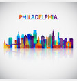 philadelphia skyline silhouette vector image vector image