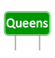Queens green road sign vector image vector image