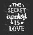 quotes secret ingredient is love vector image