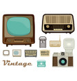 retro equipment vector image
