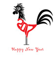 Rooster bird concept of Chinese New Year vector image vector image