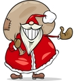 santa claus cartoon christmas vector image