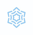 snowflake blue on white isolated vector image vector image