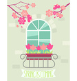 Spring is coming vector image vector image