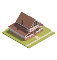 suburban house isometry hyper detailing isometric vector image vector image