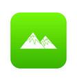 swiss alps icon digital green vector image vector image