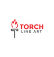 torch graphic design template vector image vector image