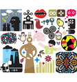 Various icons vector image vector image