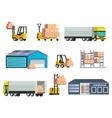 Warehouse Logistics Elements Set vector image vector image