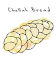 watercolour zopf or challah bread jewish or swiss vector image vector image