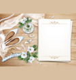 wedding floral background vector image vector image