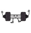 weight lifting gym kawaii character vector image
