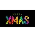 MERRY XMAS CARD vector image