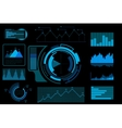 Futuristic blue touch user interface vector image
