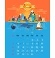 Calendar of june vector image