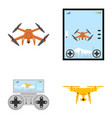 aerial drone with a camera photographing or video vector image