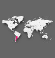 argentina pink highlighted in map of world light vector image vector image