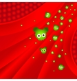 Attack of illness bacteria vector image