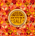 Autumn pattern with Sale Typography vector image vector image