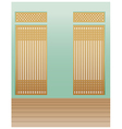 Bamboo Interior Background vector image vector image