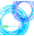 blue circle lines motion scene vector image vector image