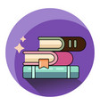 books icon isolated modern flat style design vector image