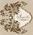 brown floral invitation card vector image vector image