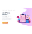 budget planning concept landing page vector image vector image