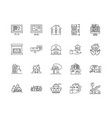buy houses line icons signs set outline vector image vector image