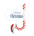 Christmas Candy With Santa Hat vector image
