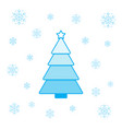 christmas tree and snowflakes vector image