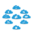 cloud computing and technology infographic design vector image vector image