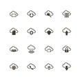 computer cloud - flat icons vector image vector image